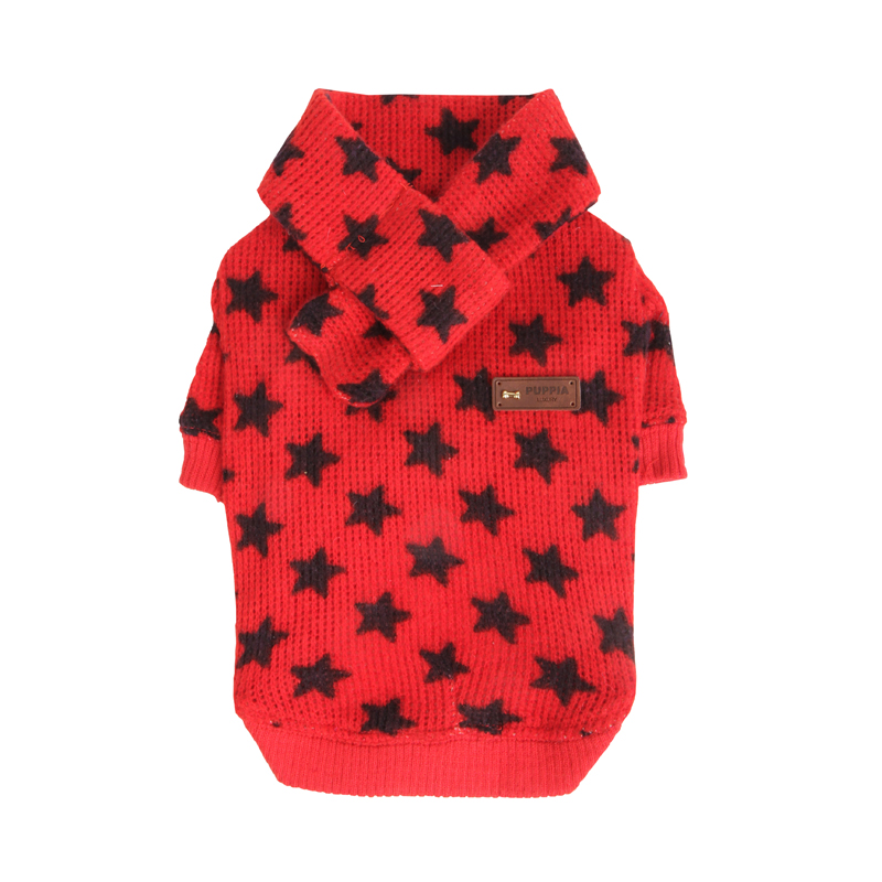 Stellar Dog Sweater Set by Puppia - Red