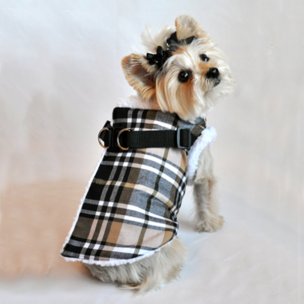 Step In Wrap Dog Coat - Brown Plaid