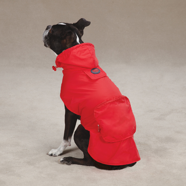 Stowaway Rain Jacket by Zack & Zoey - Tomato Red