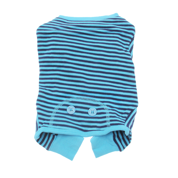 Striped Dog Pajamas - Blue