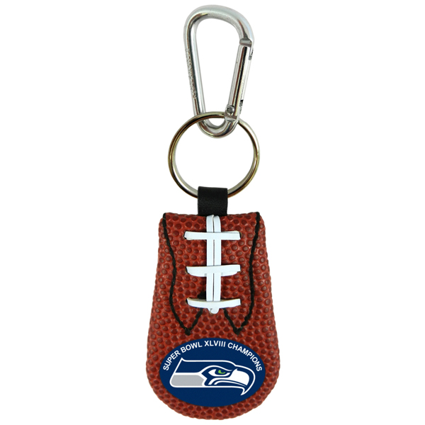 Super Bowl 2014 Champions Classic NFL Seahawks Keychain Dog Collar Charm