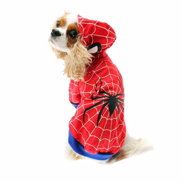 Superhero Dog Costume - Red Spider Dog