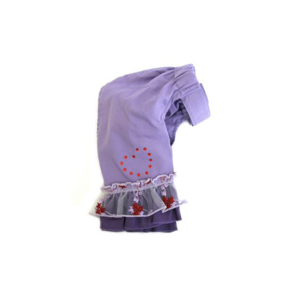 Sweetheart Lavender & Red Heart Bell Bottom Pants