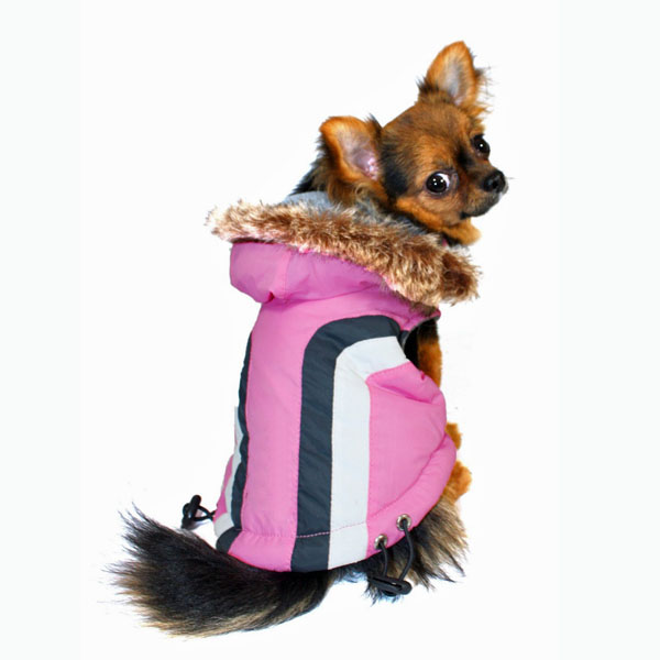 Swiss Alpine Ski Dog Vest by Hip Doggie - Pink