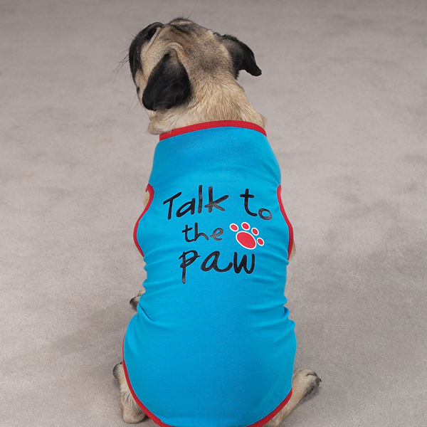 Talk to the Paw Dog Tank Top