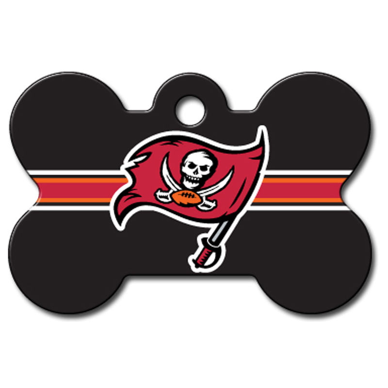 Tampa Bay Buccaneers Engravable Pet I.D. Tag - Bone