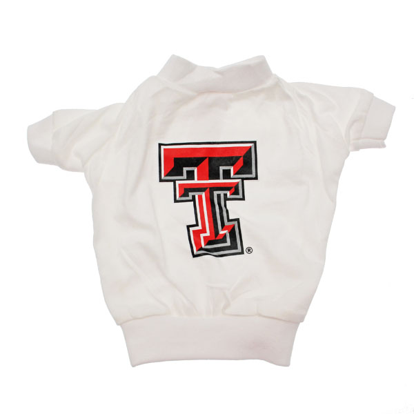Texas Tech Dog T-Shirt - White