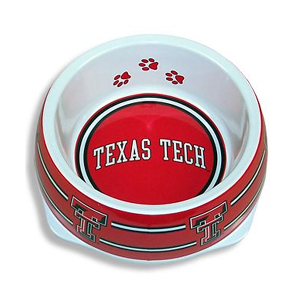 Texas Tech Plastic Dog Bowl