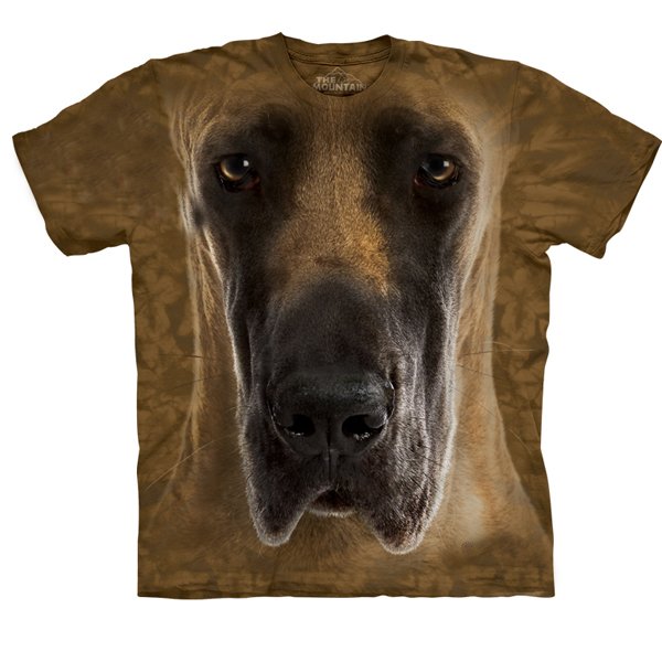 The Mountain Human T-Shirt - Great Dane Face