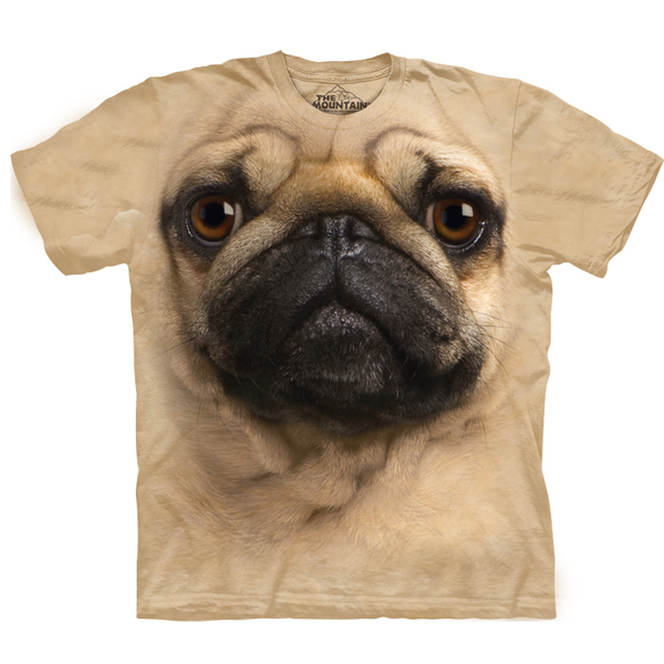 The Mountain Human T-Shirt - Pug Face