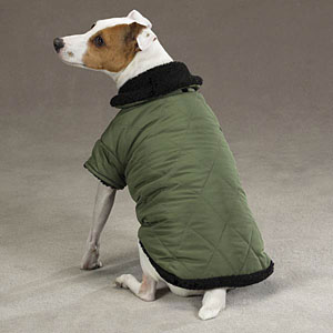 Thermal Lined Dog Jacket - Chive