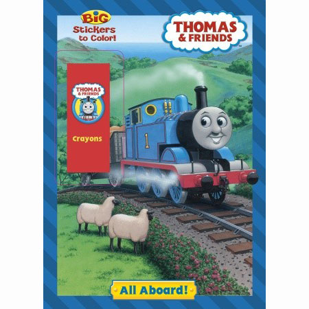 Thomas the Train Books - All Aboard! Coloring Book at ToyStop