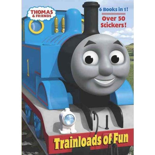 Thomas the Train Books - Trainloads of Fun Jumbo Sticker & Coloring ...