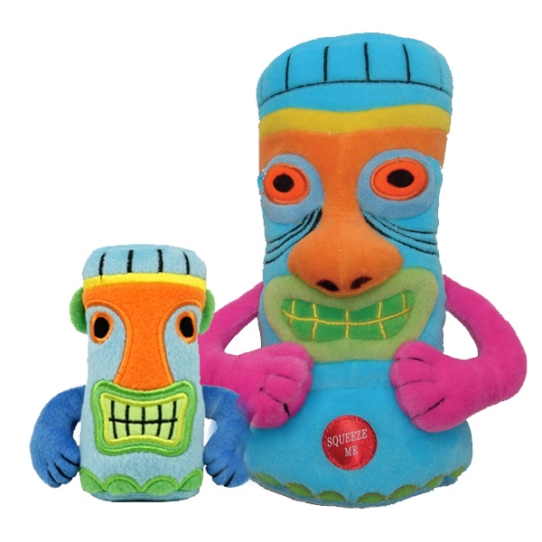Tiki Dog Toy - Blue