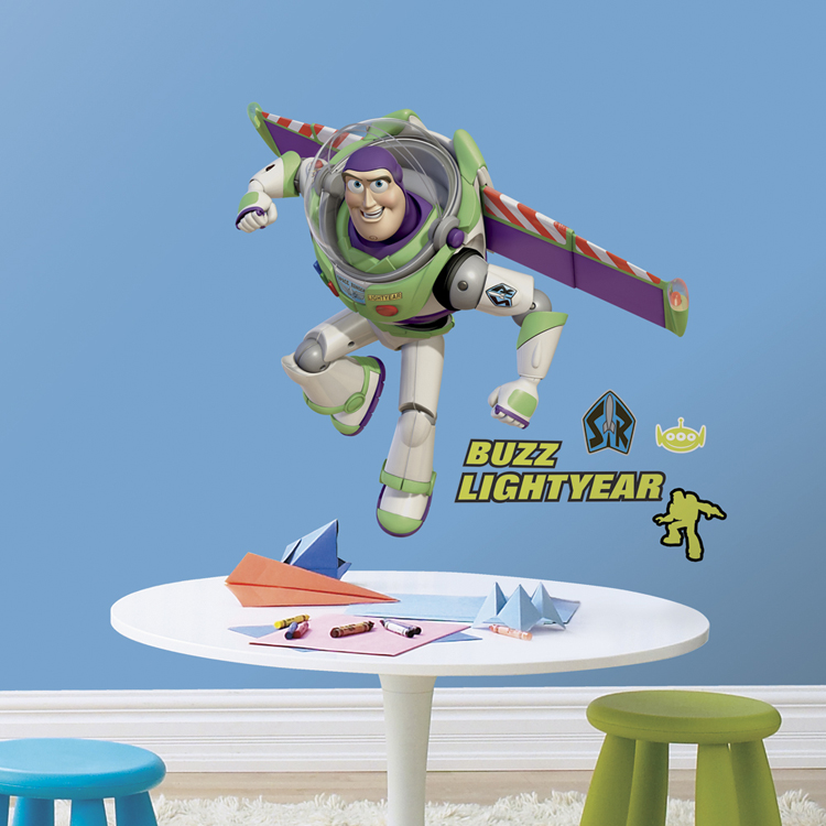 Toy Story Led Wall Light : Toy Story Bedroom Decor - Buzz Lightyear Giant Wall Sticker at ToyStop