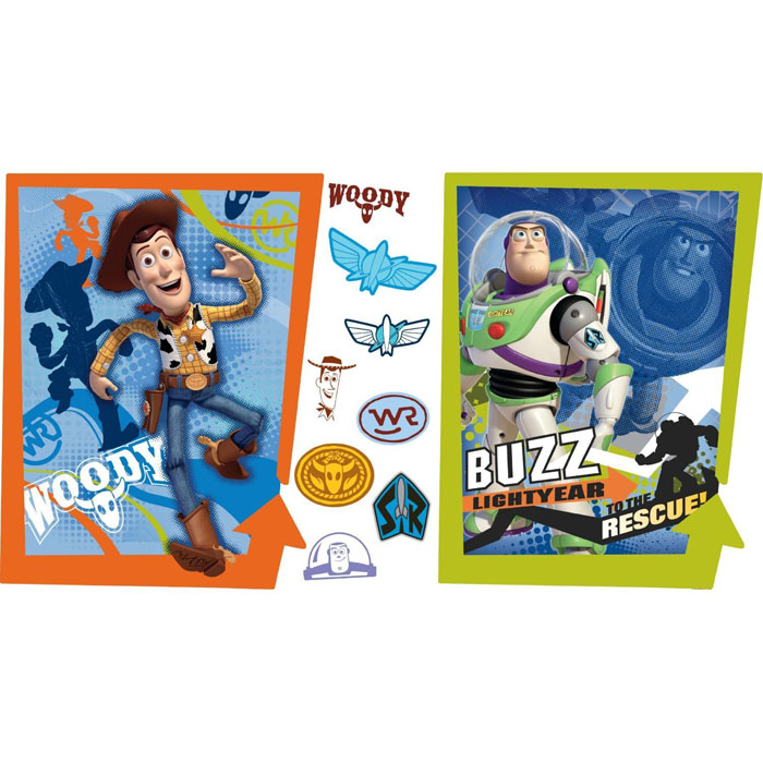 Toy Story Bedroom Decor   Buzz U0026 Woody Giant Wall Decals At ToyStop