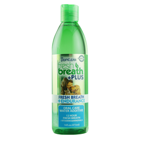 Tropiclean Fresh Breath Pet Water Additive Plus - Endurance