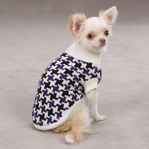 Ultra Violet Houndstooth Sweater