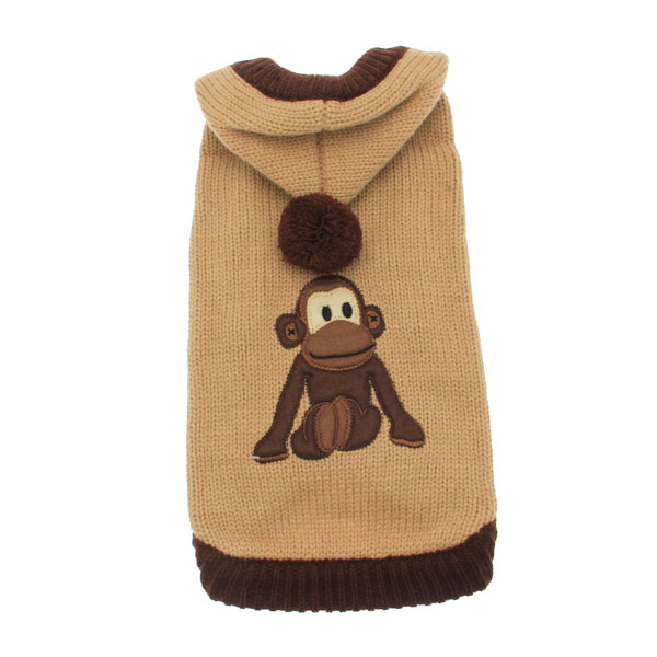 Monkey Dog Sweater with Hood