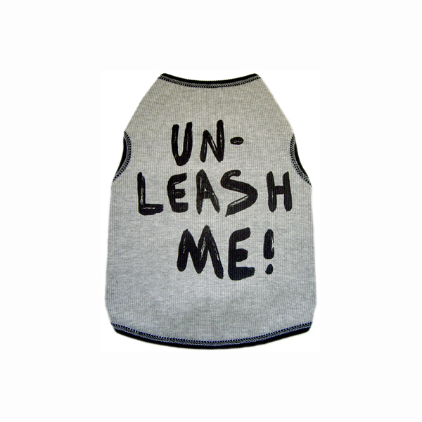 Unleash Me! Dog Tank Top - Gray