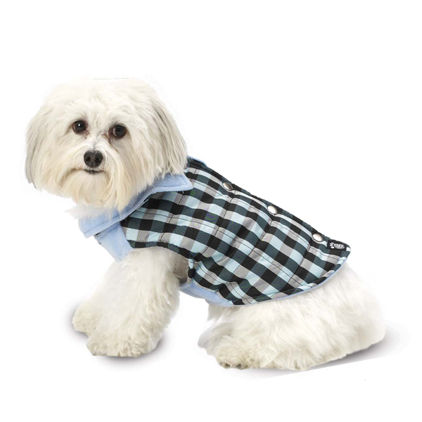 Vail Checkered Dog Vest - Blue