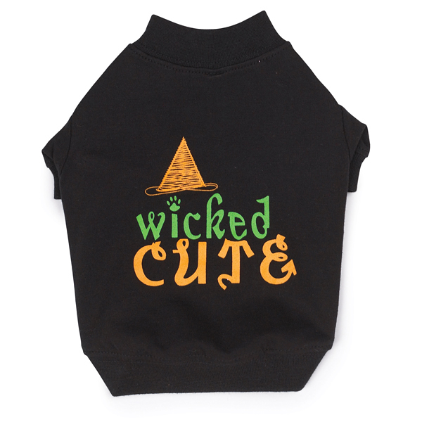 Wicked Cute Halloween Dog T-Shirt by Zack and Zoey