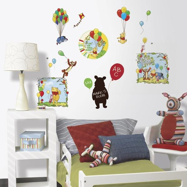Winnie the Pooh Bedroom Decor - Up Up & Away Wall Decorating Kit at ...