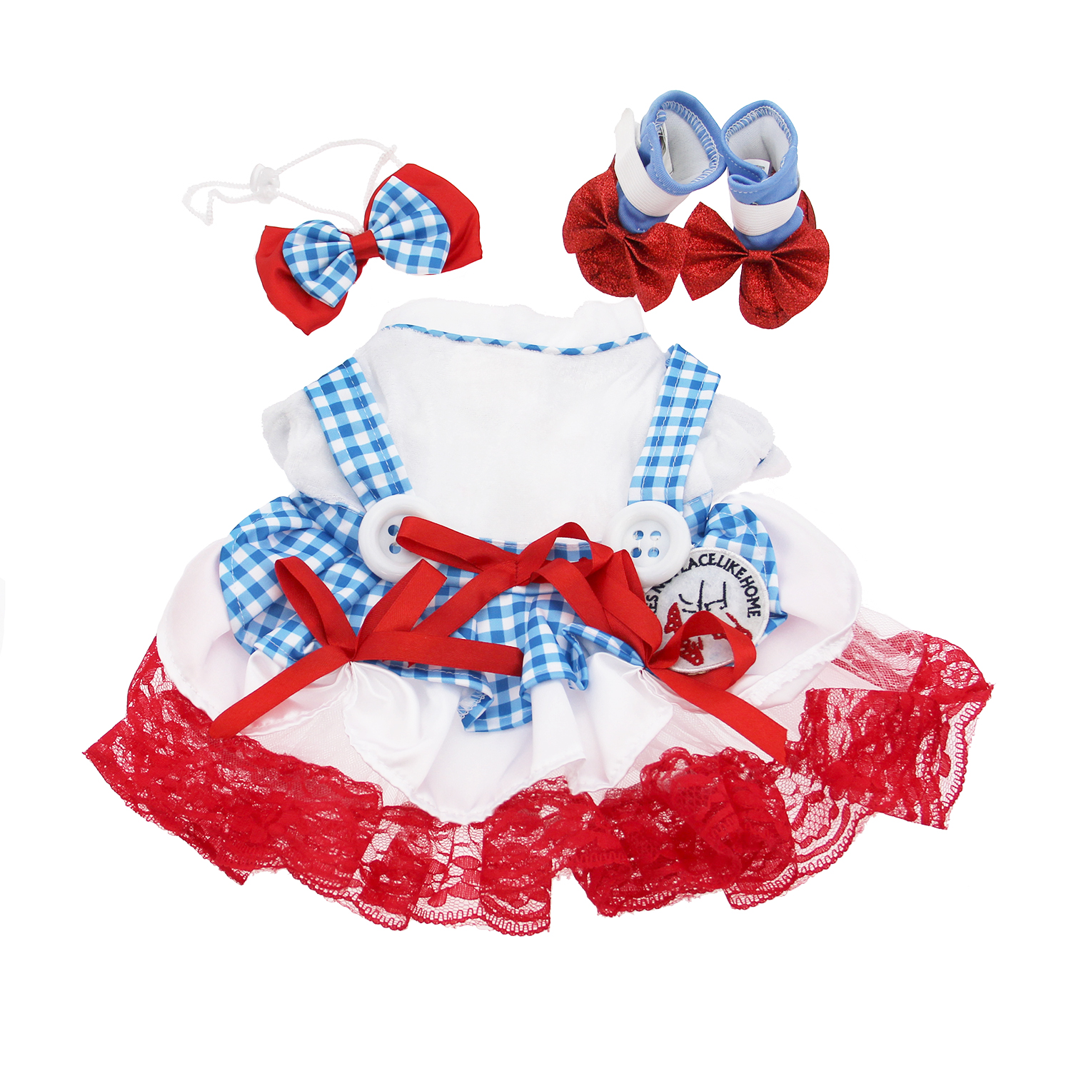 Wizard of Oz Dorothy Dog Halloween Costume with Same Day Shipping ...