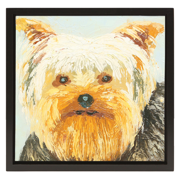 Yorkie Oil Painting