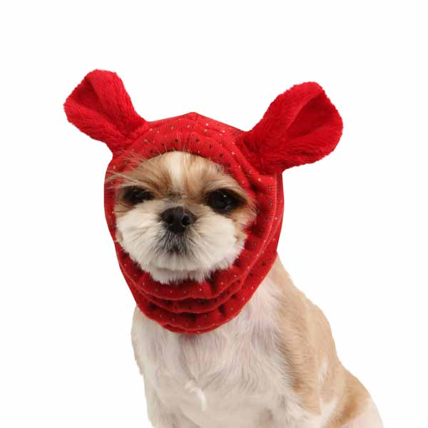 Yuppie Dog Snood by Puppia - Red