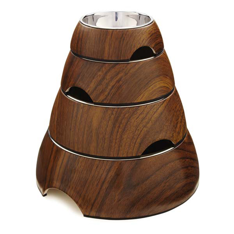 Zen Melamine Dog Bowl - Walnut