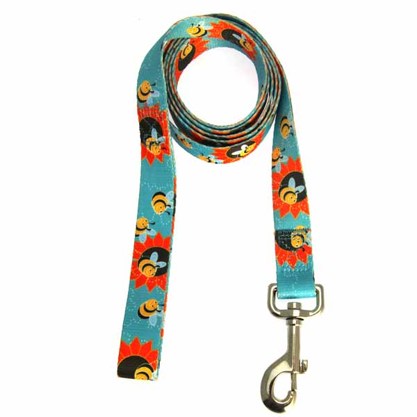 Zack & Zoey Flutter Bugs Dog Leash - Bumble Bee