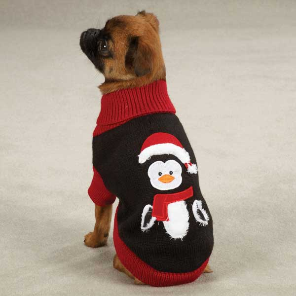 Zack & Zoey Holiday Penguin Dog Sweater