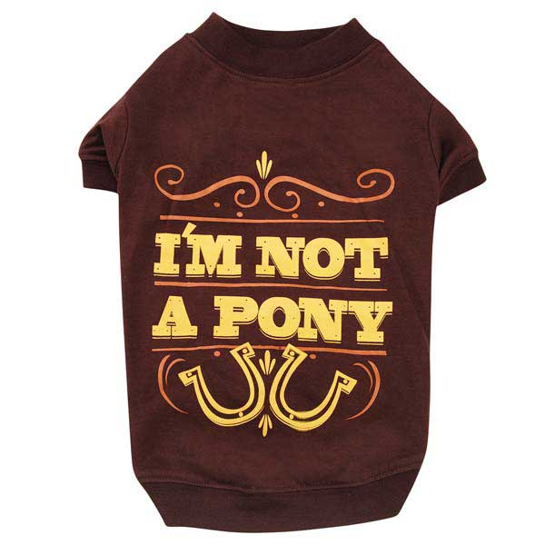 Zack & Zoey I'm Not a Pony Dog T-Shirt - Brown