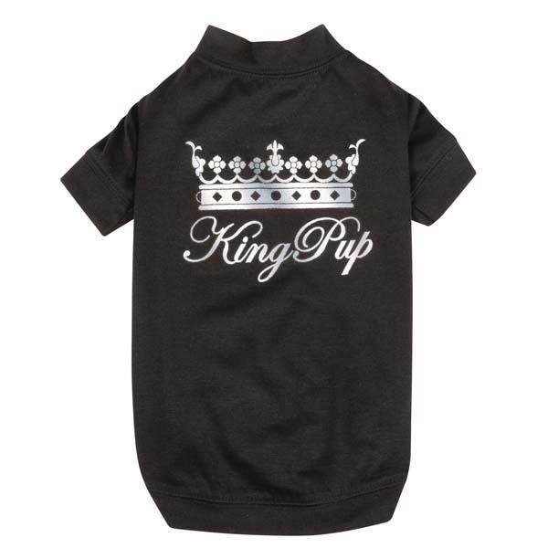 Zack & Zoey King Pup Dog T-Shirt - Black