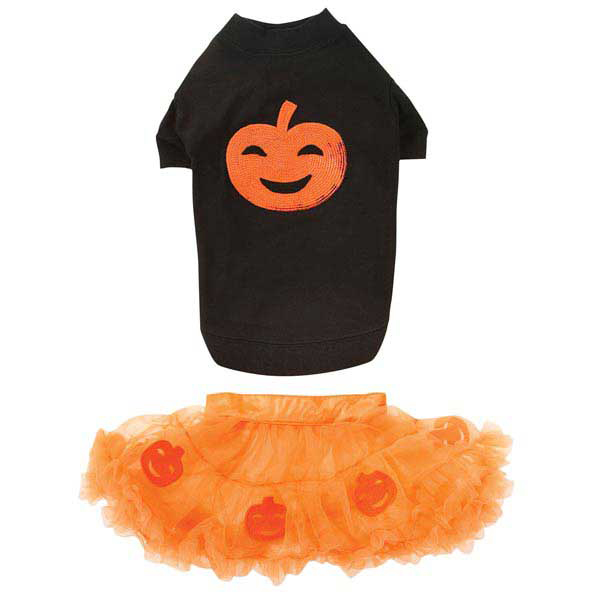 Pumpkin Dog Skirt Set
