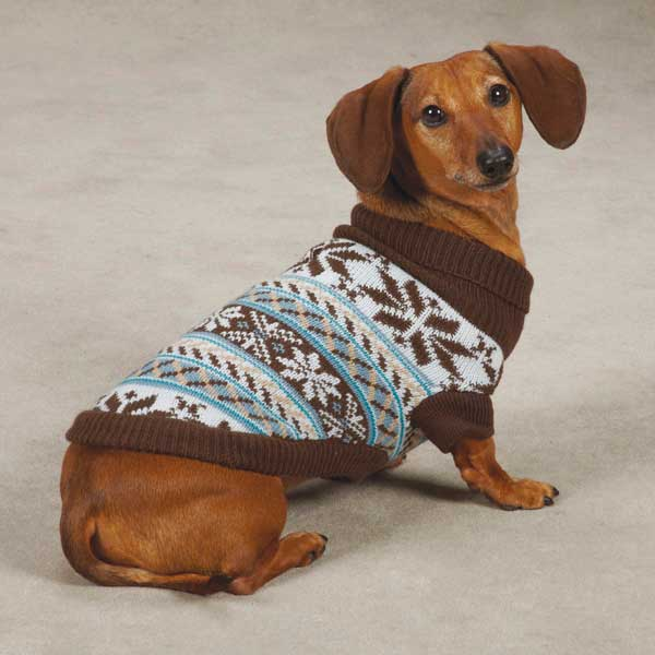 Zack & Zoey Snow Lodge Dog Sweater