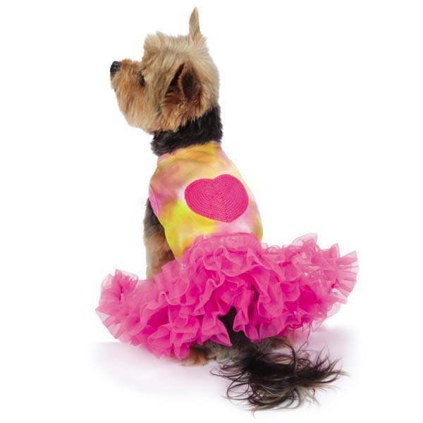 Zack and Zoey Tie-Dye Dog Tank and Tutu Set