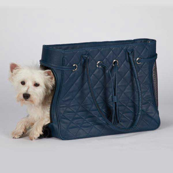 Zack & Zoey Vineyard Quilted Pet Carriers - Navy