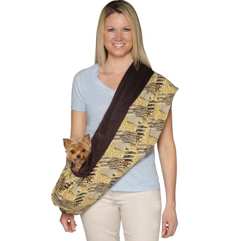 Wild Savannah Reversible Sling Pet Carrier