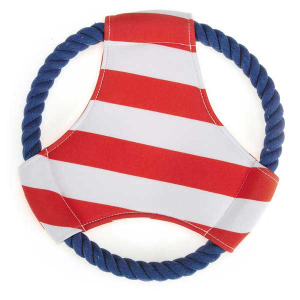 Zanies All Paws on Deck Flyer Dog Toy - Red