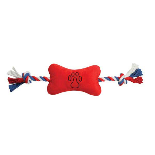 Zanies Americana Bone Tugger Dog Toy - Red