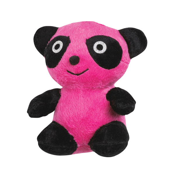 Zanies Band O' Pandas Dog Toy - Pink