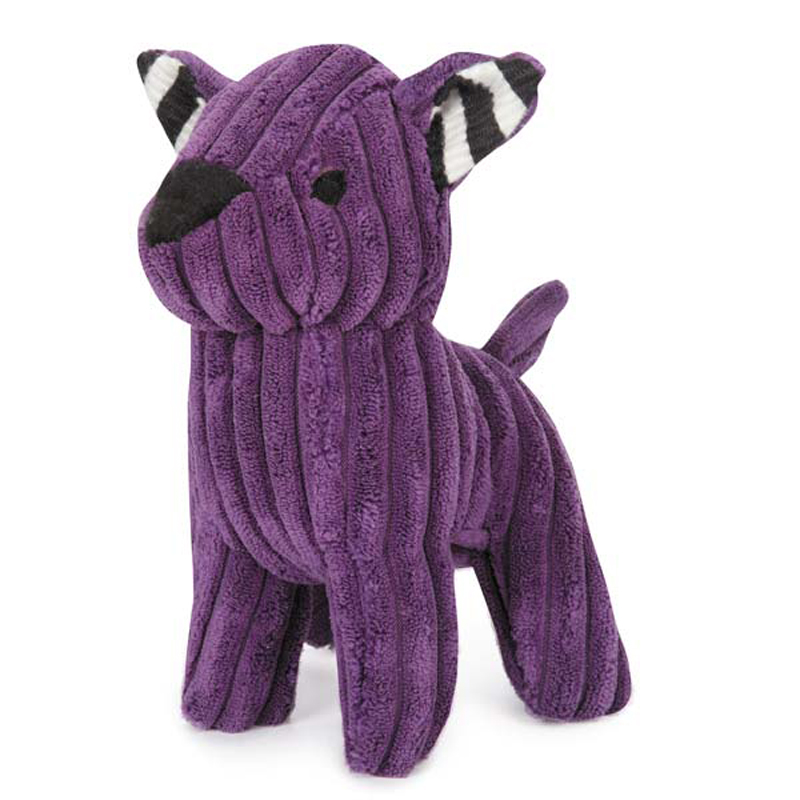 Zanies Corduroy Cuties Dog Toy - Purple