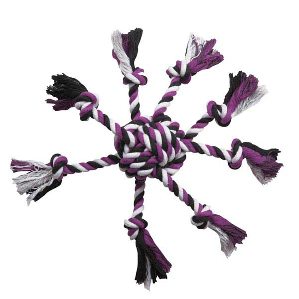 Zanies Crazy Eight Rope Dog Toy - Purple