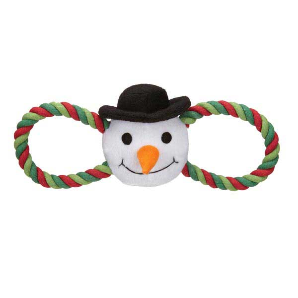 Zanies Holiday Hug Tugs Dog Toy - Snowman
