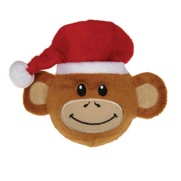 Zanies Holiday Monkey Business Squeaker Dog Toy - Ty