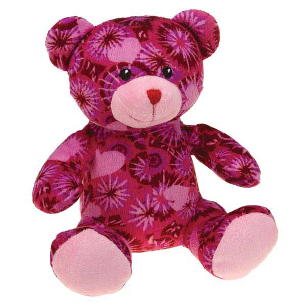 Zanies Kiss N' Cuddle Bears Dog Toy - Tie-dye