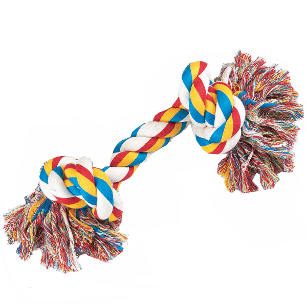 Toys For Dogs : Zanies knotted rope bones dog toy with same day shipping