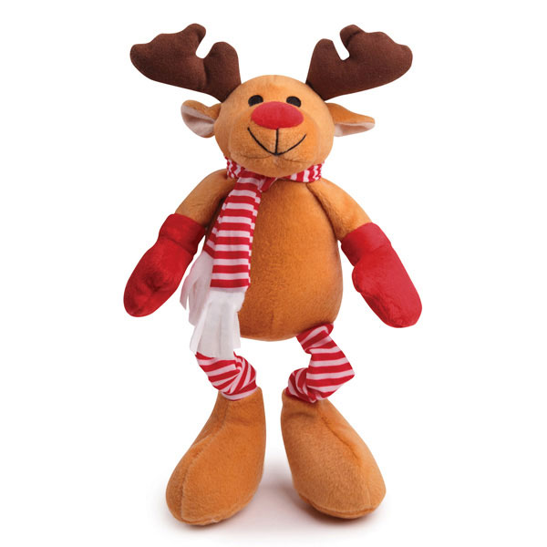 Zanies Kringle Club Reindeer Dog Toy
